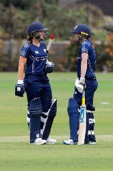 Batsmen take a break, 9th Match, Group B, ICC Women's World Twenty20 Qualifier at Utrecht, Jul 10th 2018.