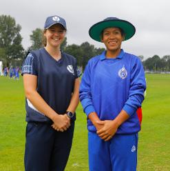 Both captains before the toss, 9th Match, Group B, ICC Women's World Twenty20 Qualifier at Utrecht, July 10th 2018