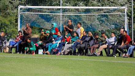 Supporters during the match, 11th Match, Group A, ICC Women's World Twenty20 Qualifier at Utrecht, Jul 10th 2018