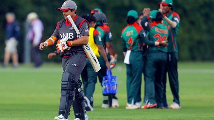 Nisha Ali c Nigar Sultana b Fahima Khatun, 11th Match, Group A, ICC Women's World Twenty20 Qualifier at Utrecht, Jul 10th 2018.