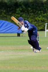 Scotland batsman SJ Bryce plays a shot, 9th Match, Group B, ICC Women's World Twenty20 Qualifier at Utrecht, Jul 10th 2018.