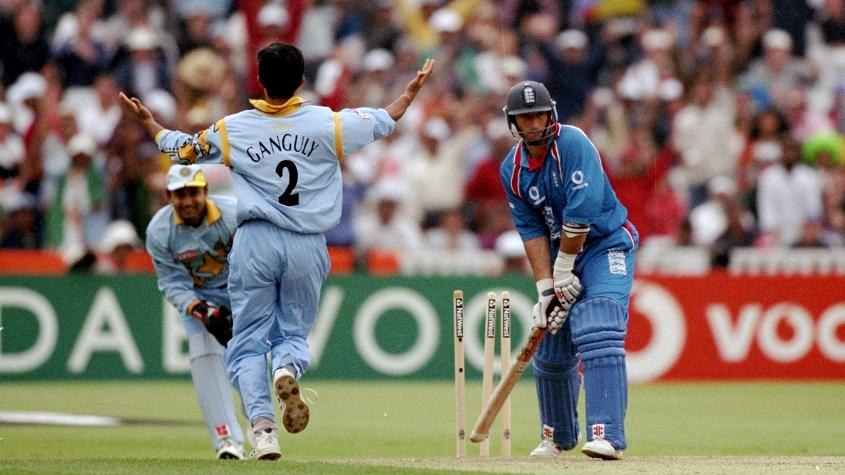 Sourav Ganguly played a starring role with the ball