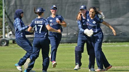 Big joy for the Scottish girls, 2nd Semi-Final: Bangladesh Women v Scotland Women, VRA Ground, 12th July 2018.