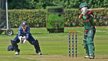 Ayasha Rathman is caught behind, 2nd Semi-Final: Bangladesh Women v Scotland Women, VRA Ground, 12th July 2018.