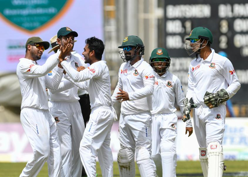 Mehidy Hasan Miraz took three important wickets on day one