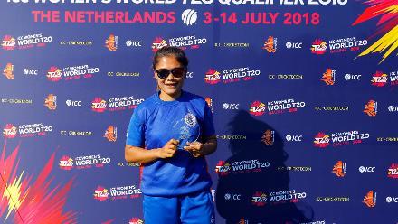 Player of Match Chanida Sutthiruang, 2nd Play-off Semi-Final, at Utrecht, Jul 12th 2018.