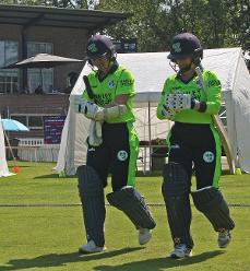 Opening for Ireland Clare Shillington and Cecilia Joyce, 1st Semi Final Ireland v PNG, VRA, 12th July 2018.