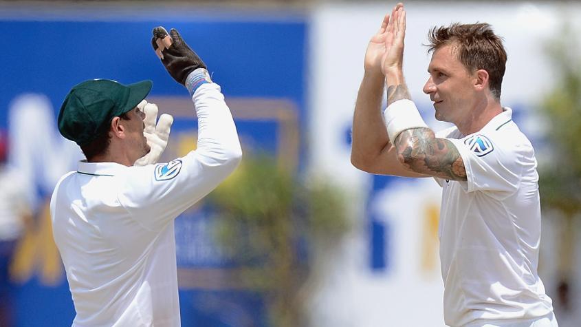 Dale Steyn picked up a wicket on his return to Test cricket and moved within touching distance of Shaun Pollock's South Africa record