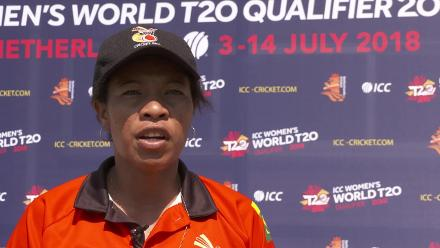 WT20Q: PNG's Kaia Arua reacts to their semi-final loss