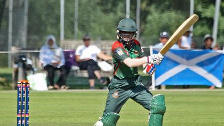 Nigar Sultana plays through gully, 2nd Semi-Final: Bangladesh Women v Scotland Women, VRA Ground, 12th July 2018.