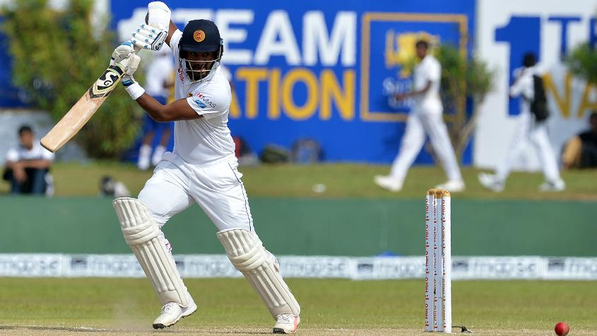 Dimuth Karunaratne followed his 158 in the first innings with another cracking half-century