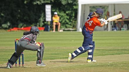 7th place Play-off: Netherlands Women v United Arab Emirates Women, ICC Women's World Twenty20 Qualifier at VRA Ground, 14th July 2018