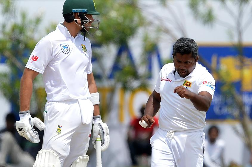 Rangana Herath took three wickets in the second innings