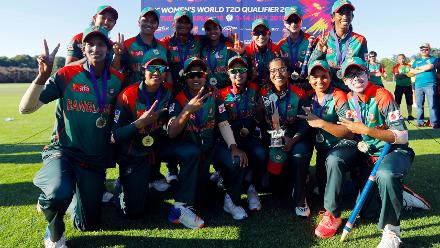 Final: Bangladesh Women v Ireland Women, ICC Women's World Twenty20 Qualifier at Utrecht, 14th July 2018.