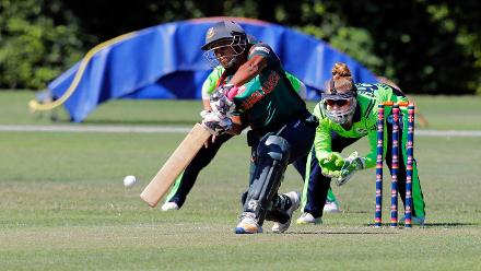 Bangladesh Batsman Shamima Sultana, 3rd Place Play-off, ICC Women's World Twenty20 Qualifier at Utrecht, Jul 14th 2018.