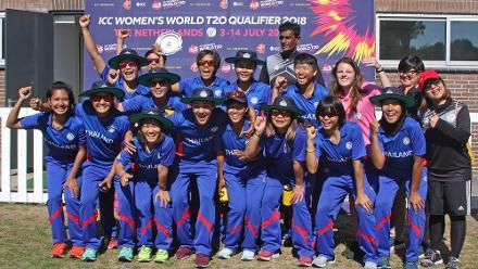 5th place Play-off: Uganda Women v Thailand Women, ICC Women's World Twenty20 Qualifier at VRA Ground, 14th July 2018.