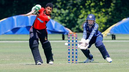 3rd place Play-off:  Papua New Guinea Women v Scotland Women, ICC Women's World Twenty20 Qualifier at Utrecht, 14th July 2018.