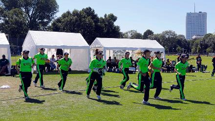 Ireland team take to the outfield, Final, ICC Women's World Twenty20 Qualifier at Utrecht, Jul 14th 2018.