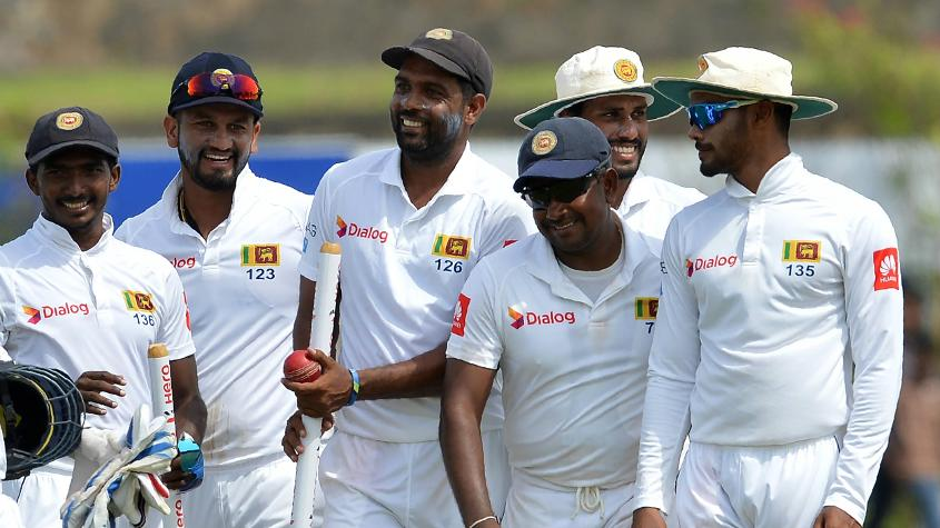 Sri Lanka won the first Test by 278 runs with their spinners picking up 17 wickets