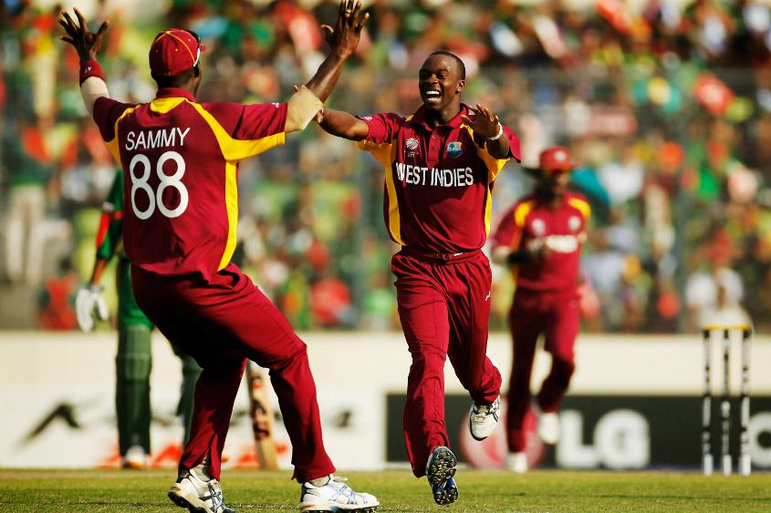 Kemar Roach was adjudged Player of the Match for claiming 2/19 from six overs