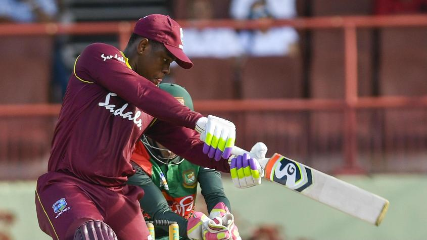 Shimron Hetmyer top scored for the Windies with a 78-ball 52