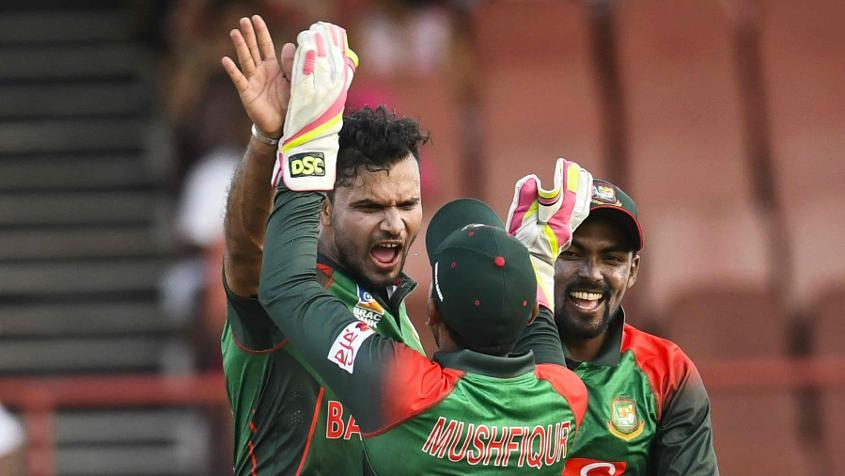 Mashrafe Mortaza was the best of the Bangladesh bowlers, returning 4/37