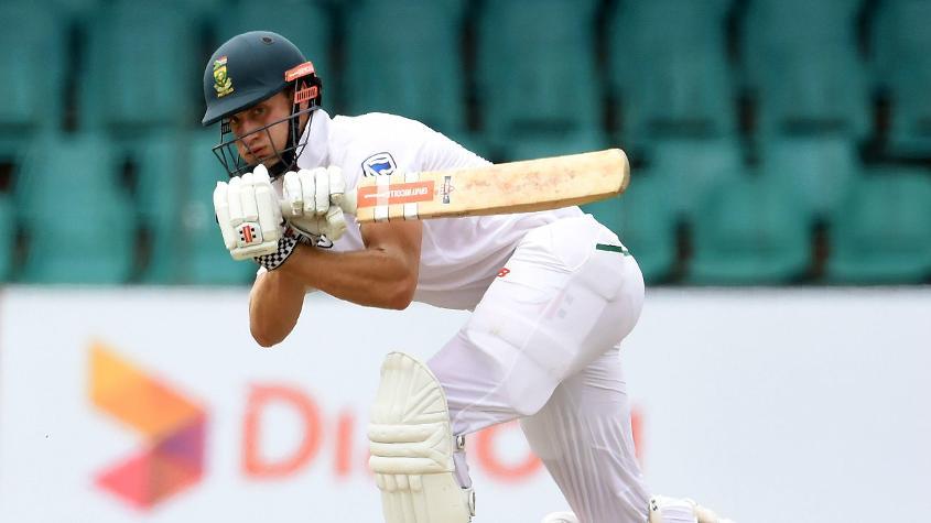 Theunis de Bruyn scored his maiden Test century
