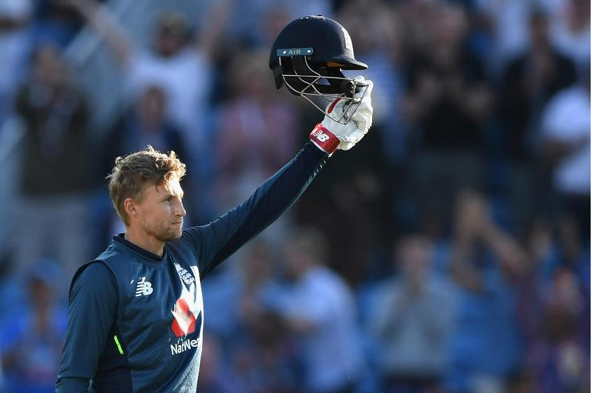 Joe Root brought up his 13th ODI hundred at Leeds