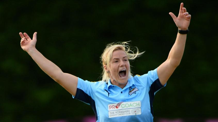Katherine Brunt had picked up the first Women's Super League hat-trick, in 2016
