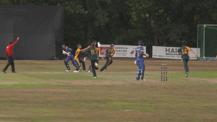 U19CWCQ Europe Div 2: Sweden v Guernsey – brilliant run out by Faseeh Choudary