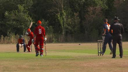 U19CWCQ Europe Div 2: Sharp catching by Netherlands wicket-keeper K van der Geest