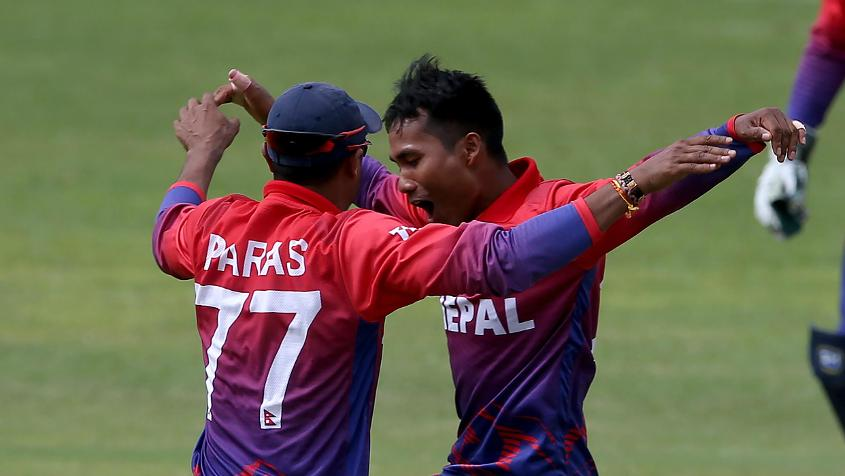 Paras Khadka picked up 4/26 in the first ODI