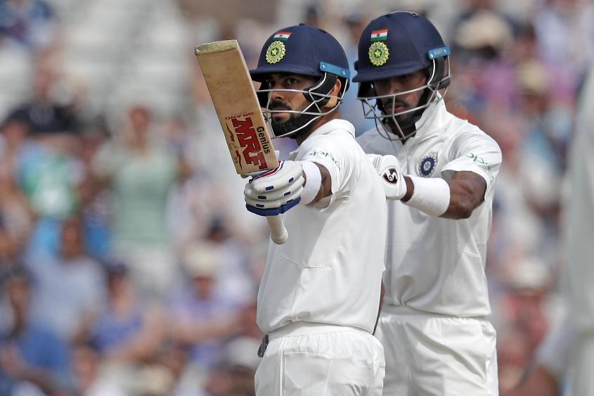 Virat Kohli brought up his 16th Test fifty, scoring 51 off 93