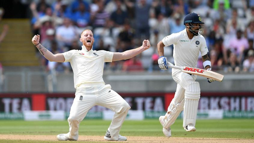Ben Stokes ended Virat Kohli's resistance, and with it India's chances at Edgbaston