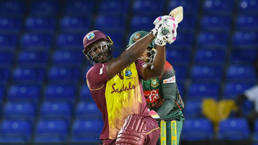 Andre Russell gave the Windies a bit of a chance with a late blitz