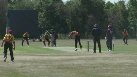 U19CWCQ Europe Div 2: Belgium v Norway – 2nd ball wicket