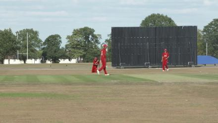 U19CWCQ Europe Div 2: Denmark v Guernsey - Two fours and three wickets in five balls