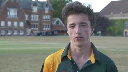 U19CWCQ Europe Div 2: Denmark v Guernsey, post-match interviews with Mahmood and Bromley