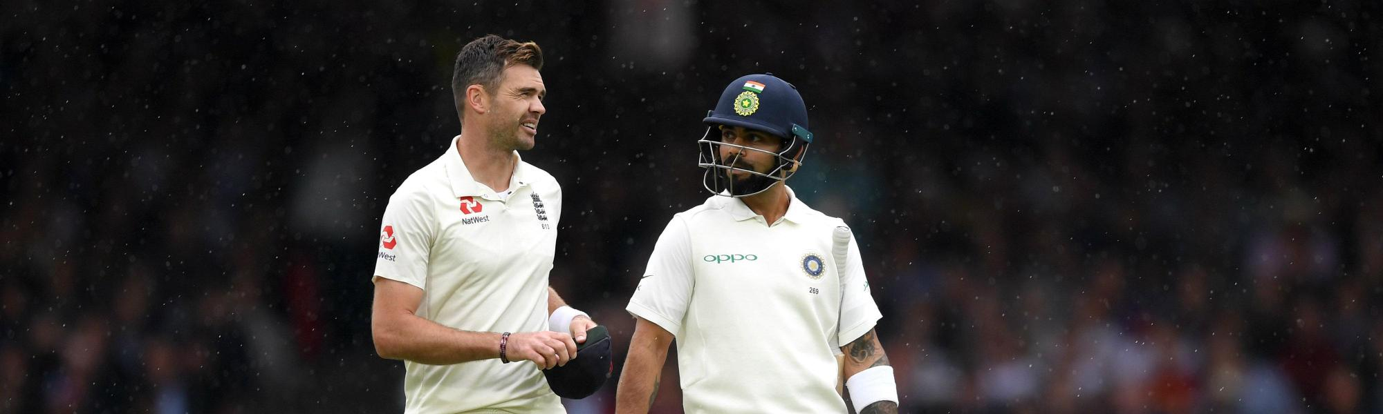 James Anderson and Virat Kohli