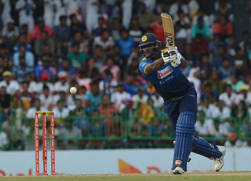With the match in the balance, Angelo Mathews took command