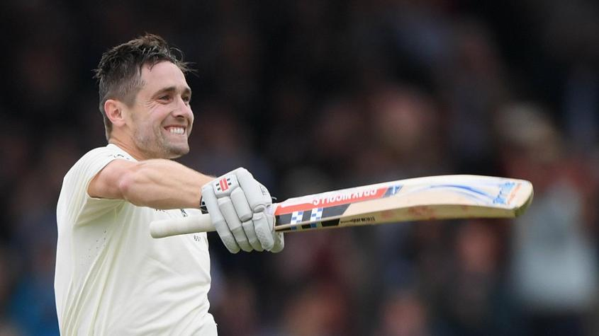 Chris Woakes hit a maiden Test century with an unbeaten 137 against India at Lord's