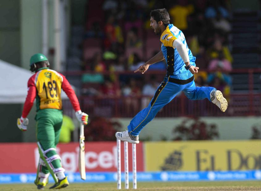Qais Ahmed, the 17-year-old Afghan spinner, starred with 3/15 for St Lucia