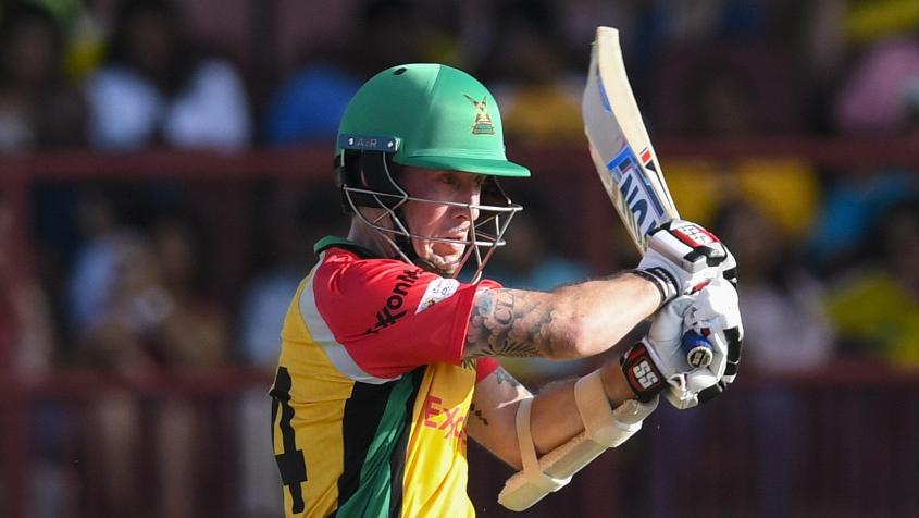 Luke Ronchi top-scored for Guyana with a 41-ball 42