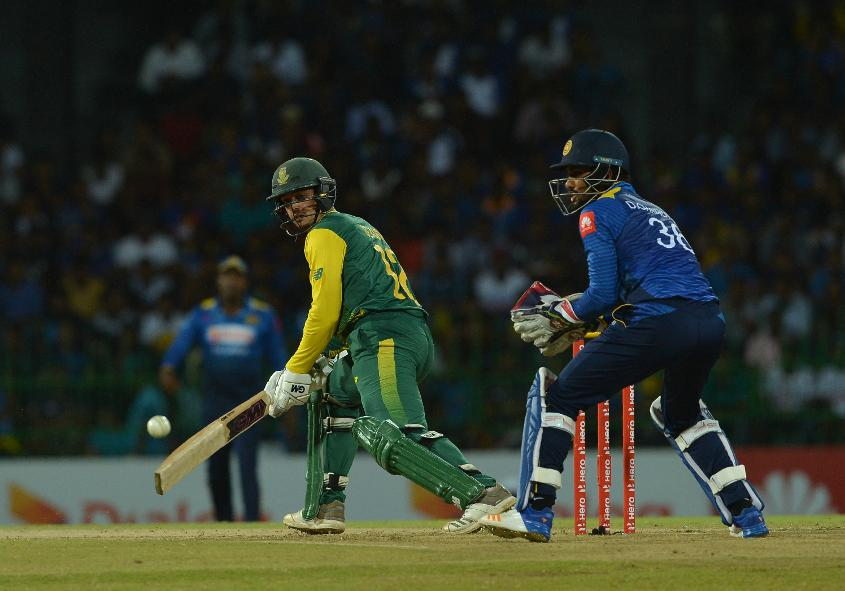 de Kock had looked dangerous before his untimely run out