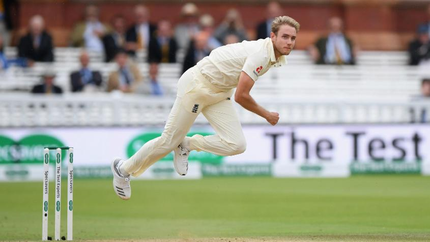 Stuart Broad bowled delightful spells at Lord's, picking up four wickets in the second innings and one in the first