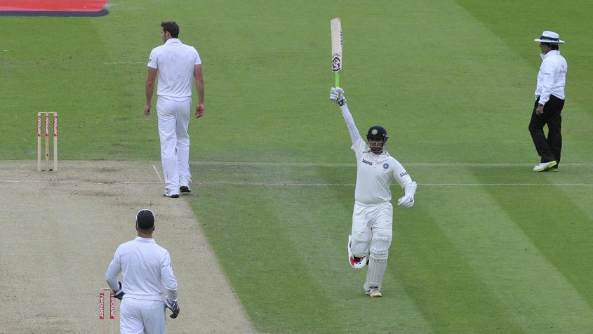 Rahul Dravid scored 103* during the 2011 Test