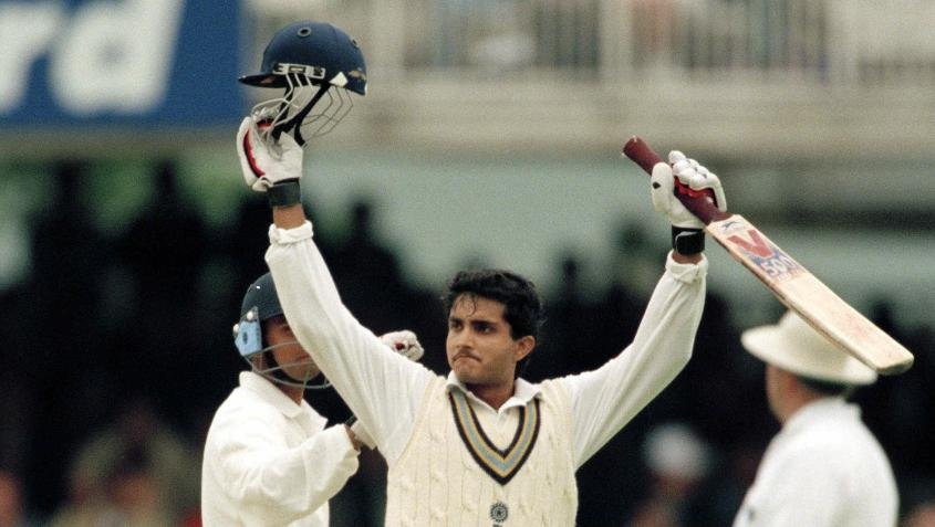 Sourav Ganguly scored a century on Test debut at Lord's in 1996
