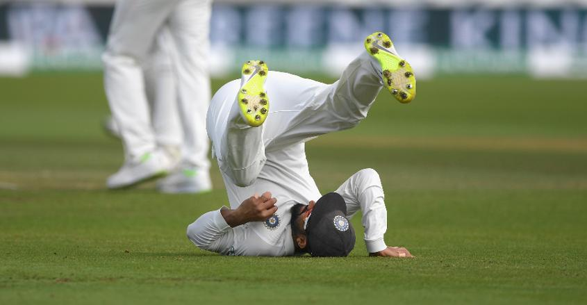 Rahane took a tumbling catch