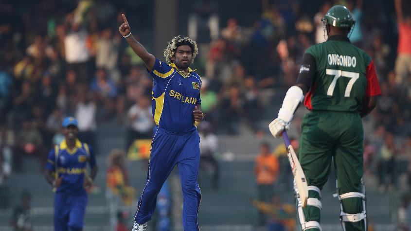 Malinga took another World Cup hat-trick against Kenya