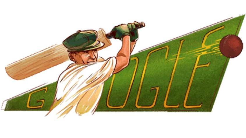 Doodle on Don Bradman's 100th birth anniversary